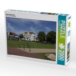 CALVENDO Puzzle Park Impression 2000 Teile Lege-Größe 90 x 67 cm Foto-Puzzle Bild von Tanja Riedel
