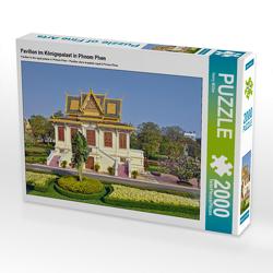 CALVENDO Puzzle Pavillon im Königspalast in Phnom Phen 2000 Teile Lege-Größe 90 x 67 cm Foto-Puzzle Bild von Harry Müller