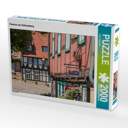 CALVENDO Puzzle Pension am Schlossberg 2000 Teile Lege-Größe 90 x 67 cm Foto-Puzzle Bild von ReDi Fotografie