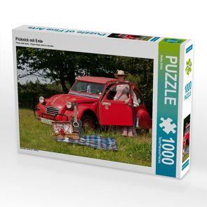 CALVENDO Puzzle Picknick mit Ente 1000 Teile Lege-Größe 64 x 48 cm Foto-Puzzle Bild von Meike Bölts