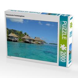 CALVENDO Puzzle Polynesische Ferienbungalows 2000 Teile Lege-Größe 90 x 67 cm Foto-Puzzle Bild von iPics Photography