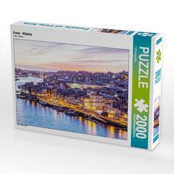 CALVENDO Puzzle Porto – Ribeira 2000 Teile Lege-Größe 90 x 67 cm Foto-Puzzle Bild von TJPhotography