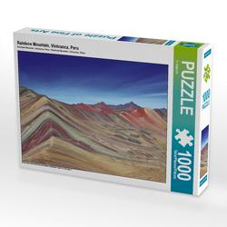 CALVENDO Puzzle Rainbow Mountain, Vinicunca, Peru 1000 Teile Lege-Größe 64 x 48 cm Foto-Puzzle Bild von © viaje.ch