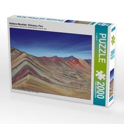 CALVENDO Puzzle Rainbow Mountain, Vinicunca, Peru 2000 Teile Lege-Größe 90 x 67 cm Foto-Puzzle Bild von © viaje.ch