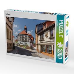 CALVENDO Puzzle Rathaus 2000 Teile Lege-Größe 90 x 67 cm Foto-Puzzle Bild von Rene Schubert