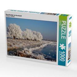 CALVENDO Puzzle Raureifwetter im Havelland 1000 Teile Lege-Größe 64 x 48 cm Foto-Puzzle Bild von Anja Frost