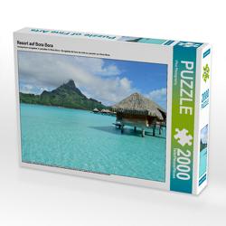 CALVENDO Puzzle Resort auf Bora Bora 2000 Teile Lege-Größe 90 x 67 cm Foto-Puzzle Bild von iPics Photography