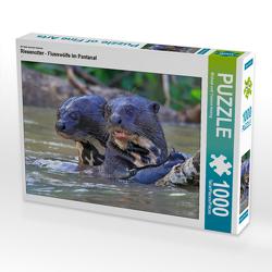 CALVENDO Puzzle Riesenotter – Flusswölfe im Pantanal 1000 Teile Lege-Größe 64 x 48 cm Foto-Puzzle Bild von Michael und Yvonne Herzog