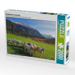 CALVENDO Puzzle Schafherde im Loisachtal 2000 Teile Lege-Größe 90 x 67 cm Foto-Puzzle Bild von SusaZoom