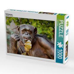 CALVENDO Puzzle Schimpanse 1000 Teile Lege-Größe 64 x 48 cm Foto-Puzzle Bild von Ulrich Brodde von Brodde,  Ulrich