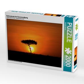 CALVENDO Puzzle Schirmakazie bei Sonnenaufgang 2000 Teile Lege-Größe 90 x 67 cm Foto-Puzzle Bild von Michael Herzog