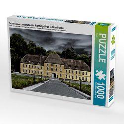 CALVENDO Puzzle Schloss Alexandersbad im Fichtelgebirge in Oberfranken 1000 Teile Lege-Größe 64 x 48 cm Foto-Puzzle Bild von Flori0