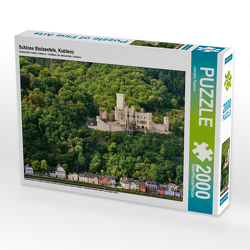 CALVENDO Puzzle Schloss Stolzenfels, Koblenz 2000 Teile Lege-Größe 90 x 67 cm Foto-Puzzle Bild von Juergen Feuerer