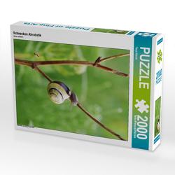 CALVENDO Puzzle Schnecken Akrobatik 2000 Teile Lege-Größe 67 x 90 cm Foto-Puzzle Bild von Tanja Riedel