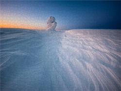 CALVENDO Puzzle Schneeverwehung Finnland 2000 Teile Lege-Größe 90 x 67 cm Foto-Puzzle Bild von Rolf Dietz