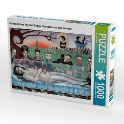CALVENDO Puzzle Schneewittchen und die 8 Zwerge, Illustration von Sara Horwath 1000 Teile Lege-Größe 64 x 48 cm Foto-Puzzle Bild von Sara Horwath