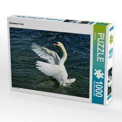 CALVENDO Puzzle Schwanen Tanz 1000 Teile Lege-Größe 64 x 48 cm Foto-Puzzle Bild von Kattobello
