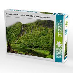CALVENDO Puzzle See Poco da Ribeira do Ferreiro mit Wasserfällen auf der Azoren-Insel Flores 2000 Teile Lege-Größe 90 x 67 cm Foto-Puzzle Bild von Jana Thiem-Eberitsch