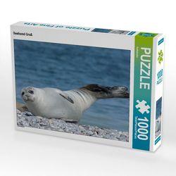 CALVENDO Puzzle Seehund Gruß 1000 Teile Lege-Größe 64 x 48 cm Foto-Puzzle Bild von Kattobello