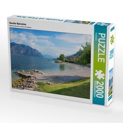 CALVENDO Puzzle Seeufer Malcesine 2000 Teile Lege-Größe 90 x 67 cm Foto-Puzzle Bild von SusaZoom