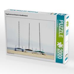CALVENDO Puzzle Segelboote am Strand in Nordfriesland 2000 Teile Lege-Größe 90 x 67 cm Foto-Puzzle Bild von Michael Bogumil