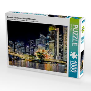 CALVENDO Puzzle Singapur – Asiatische Lifestyle Metropole 1000 Teile Lege-Größe 64 x 48 cm Foto-Puzzle Bild von Dieter Meyer