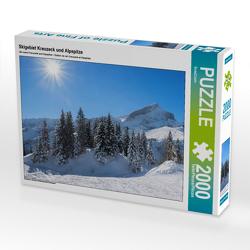 CALVENDO Puzzle Skigebiet Kreuzeck und Alpspitze 2000 Teile Lege-Größe 90 x 67 cm Foto-Puzzle Bild von SusaZoom