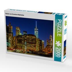 CALVENDO Puzzle Skyline von Downtown Manhattan 2000 Teile Lege-Größe 90 x 67 cm Foto-Puzzle Bild von Christian Müller