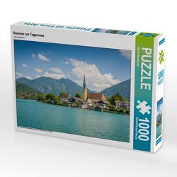 CALVENDO Puzzle Sommer am Tegernsee 1000 Teile Lege-Größe 64 x 48 cm Foto-Puzzle Bild von Martin Wasilewski