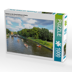 CALVENDO Puzzle Sommer an der Havel-Schleuse in Berlin 1000 Teile Lege-Größe 64 x 48 cm Foto-Puzzle Bild von Konstanze Junghanns