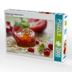 CALVENDO Puzzle Sommer Liebe, Erdbeere und Co. 2000 Teile Lege-Größe 90 x 67 cm Foto-Puzzle Bild von Tanja Riedel