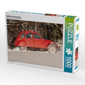 CALVENDO Puzzle Spaß im Pulverschnee 1000 Teile Lege-Größe 64 x 48 cm Foto-Puzzle Bild von Meike Bölts