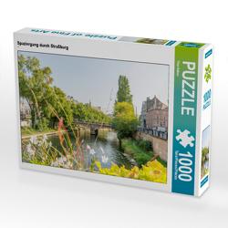 CALVENDO Puzzle Spaziergang durch Straßburg 1000 Teile Lege-Größe 64 x 48 cm Foto-Puzzle Bild von Tina Rabus