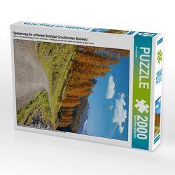 CALVENDO Puzzle Spazierweg im schönen Sertigtal Graubünden Schweiz 2000 Teile Lege-Größe 67 x 90 cm Foto-Puzzle Bild von SusaZoom
