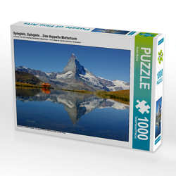 CALVENDO Puzzle Spieglein, Spieglein….Das doppelte Matterhorn 1000 Teile Lege-Größe 64 x 48 cm Foto-Puzzle Bild von Susan Michel