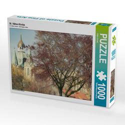 CALVENDO Puzzle St. Viktor-Kirche 1000 Teile Lege-Größe 64 x 48 cm Foto-Puzzle Bild von Viktor Gross