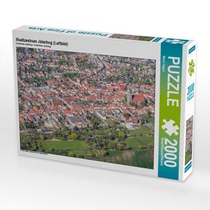 CALVENDO Puzzle Stadtzentrum Jüterbog (Luftbild) 2000 Teile Lege-Größe 90 x 67 cm Foto-Puzzle Bild von Mario Hagen