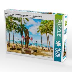 CALVENDO Puzzle Statue von Duke Kahanamoku, dem Vater des modernen Surfens 1000 Teile Lege-Größe 64 x 48 cm Foto-Puzzle Bild von Christian Müller