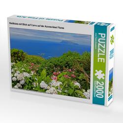 CALVENDO Puzzle Steilküste mit Blick auf Corvo auf der Azoren-Insel Flores 2000 Teile Lege-Größe 90 x 67 cm Foto-Puzzle Bild von Jana Thiem-Eberitsch