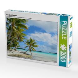 CALVENDO Puzzle Strand mit Palmen 2000 Teile Lege-Größe 90 x 67 cm Foto-Puzzle Bild von iPics Photography