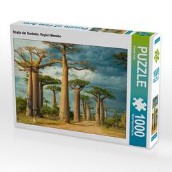 CALVENDO Puzzle Straße der Baobabs, Region Menabe 1000 Teile Lege-Größe 64 x 48 cm Foto-Puzzle Bild von Guenter Guni