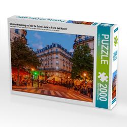 CALVENDO Puzzle Straßenkreuzung auf der Ile Saint Louis in Paris bei Nacht 2000 Teile Lege-Größe 90 x 67 cm Foto-Puzzle Bild von Christian Müller