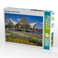 CALVENDO Puzzle Tanzbrunnen im Kölner Rheinpark 2000 Teile Lege-Größe 90 x 67 cm Foto-Puzzle Bild von Elisabeth Schittenhelm