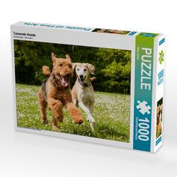 CALVENDO Puzzle Tanzende Hunde 1000 Teile Lege-Größe 64 x 48 cm Foto-Puzzle Bild von Meike Bölts