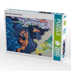 CALVENDO Puzzle Team Vapour Trails & OQ-Paint 2000 Teile Lege-Größe 90 x 67 cm Foto-Puzzle Bild von Flori0