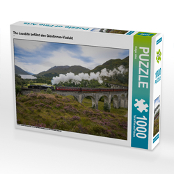 CALVENDO Puzzle The Jacobite befährt den Glenfinnan-Viadukt 1000 Teile Lege-Größe 64 x 48 cm Foto-Puzzle Bild von Holger John