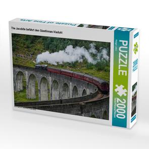 CALVENDO Puzzle The Jacobite befährt den Glenfinnan-Viadukt 2000 Teile Lege-Größe 90 x 67 cm Foto-Puzzle Bild von Holger John