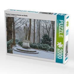 CALVENDO Puzzle Theodor Fontane im Herzen von Berlin 2000 Teile Lege-Größe 90 x 67 cm Foto-Puzzle Bild von ReDi Fotografie