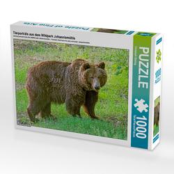 CALVENDO Puzzle Tierporträts aus dem Wildpark Johannismühle 1000 Teile Lege-Größe 64 x 48 cm Foto-Puzzle Bild von Christoph Ebeling