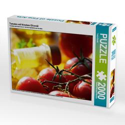 CALVENDO Puzzle Tomaten mit feinstem Olivenöl 2000 Teile Lege-Größe 90 x 67 cm Foto-Puzzle Bild von Tanja Riedel